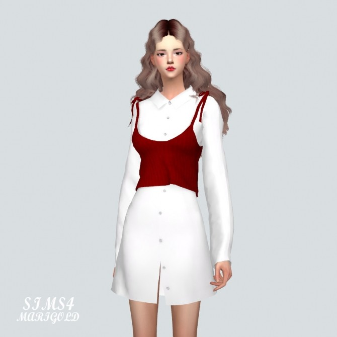 Long Shirt With Bustier at Marigold image 988 670x670 Sims 4 Updates