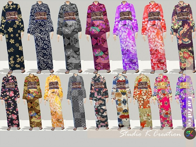Japanese Kimono At Studio K Creation 187 Sims 4 Updates