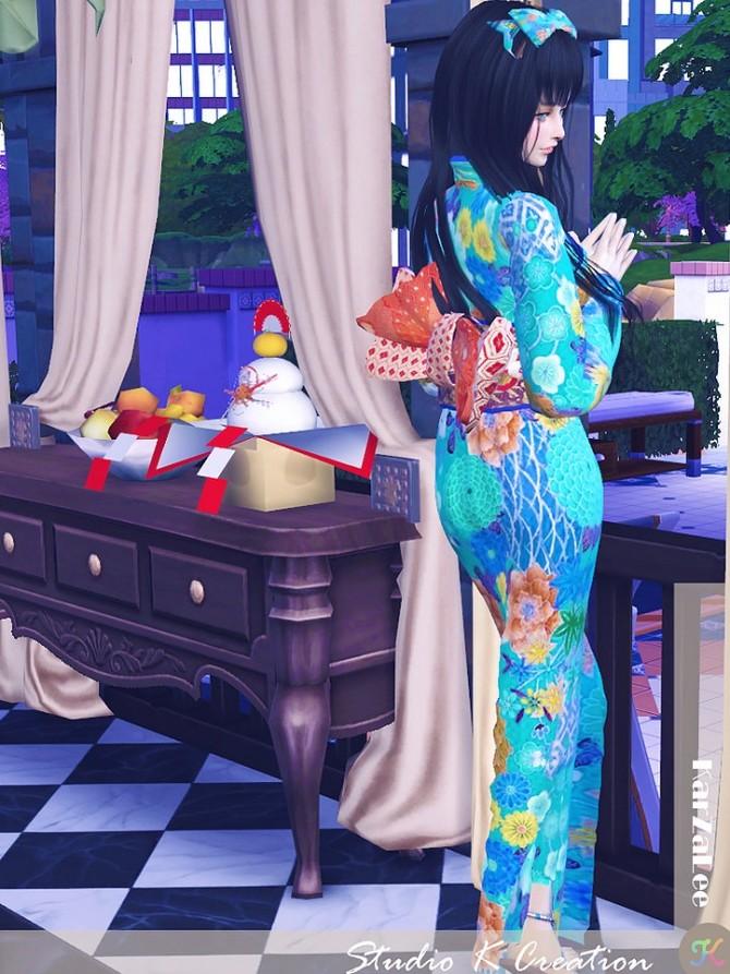 Sims 4 Japanese Kimono at Studio K Creation