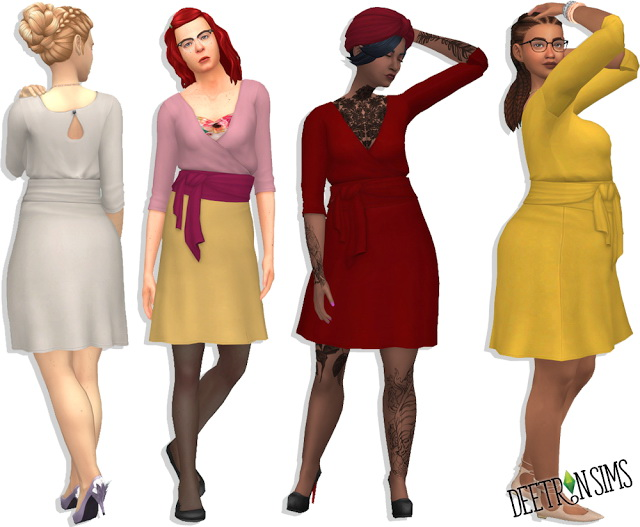 Sims 4 Wrap Dress at Deetron Sims