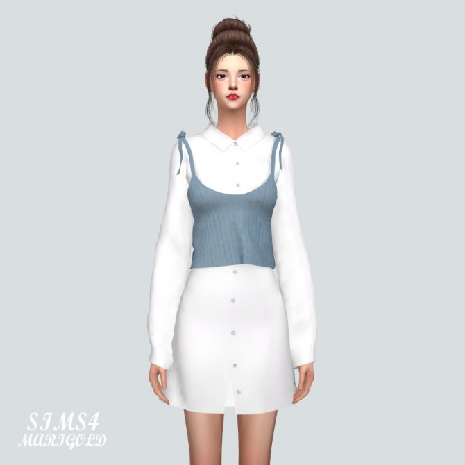 Long Shirt With Bustier at Marigold image 999 670x670 Sims 4 Updates
