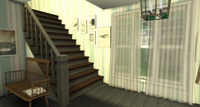 Sims 4 Billie Living Room and Foyer by Rissy Rawr at Pandasht Productions
