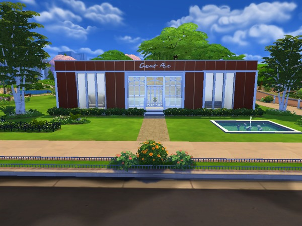 Sims 4 Crescent Mall ( No CC) by Mini Simmer at TSR