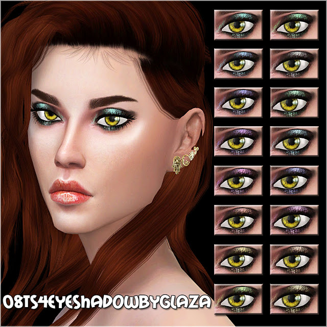 Sims 4 Eyeshadow #08 at All by Glaza