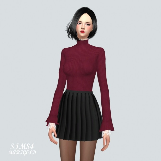 Lace Turtleneck at Marigold image 10310 670x670 Sims 4 Updates