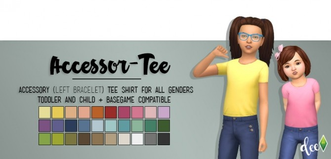 Sims 4 Kids Accessor Tee at Deetron Sims