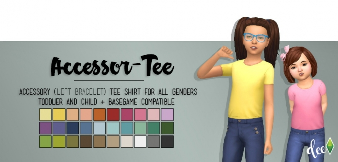 Kids Accessor-Tee at Deetron Sims » Sims 4 Updates