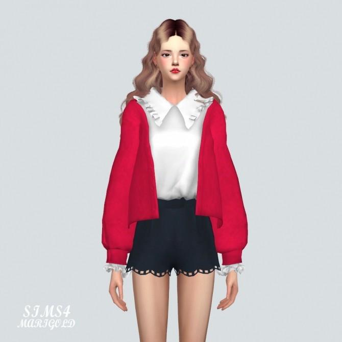 Frill Shirt With Cardigan at Marigold image 1045 670x670 Sims 4 Updates