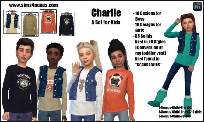 Charlie Set For Kids (shirt + vest) by SamanthaGump at Sims 4 Nexus image 1047 670x402 Sims 4 Updates