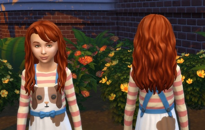 Sims 4 Daisy Hairstyle V2 for Girls at My Stuff