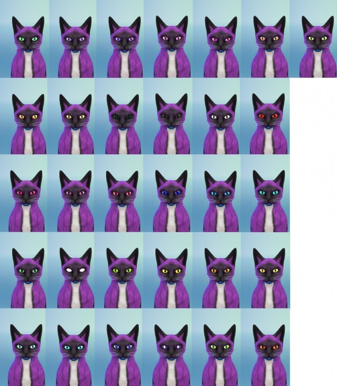30 non default colors for cats eyes by Valentina Karlova at Mod The Sims image 10516 670x768 Sims 4 Updates