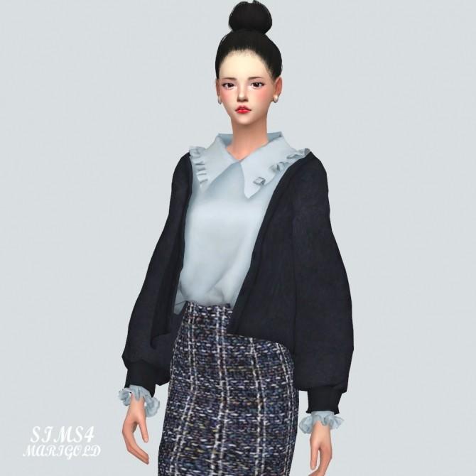 Frill Shirt With Cardigan at Marigold image 1055 670x670 Sims 4 Updates