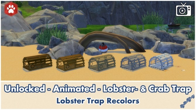 Sims 4 Animated Unlocked Lobster & Crab Trap by Bakie at Mod The Sims