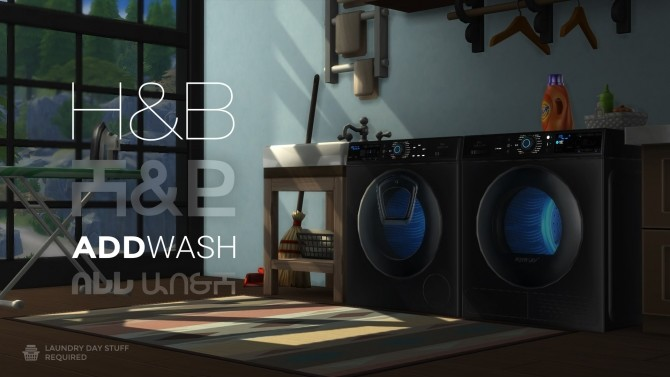 Sims 4 AddWash Duet by littledica at Mod The Sims