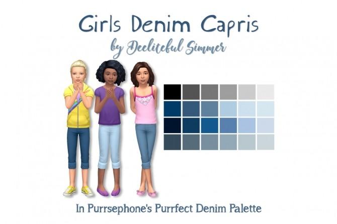 Girls denim capris at Deeliteful Simmer image 10618 670x446 Sims 4 Updates