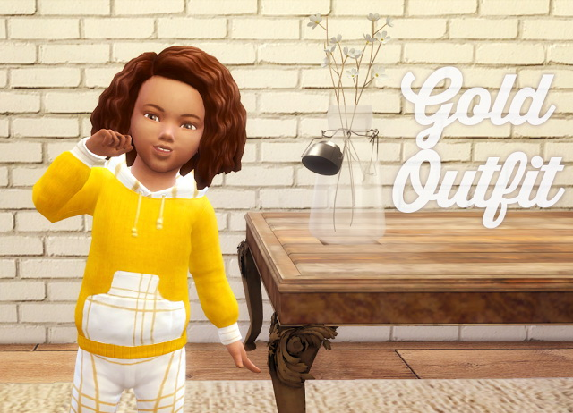 Sims 4 Gold Outfit at Akai Sims – kaibellvert