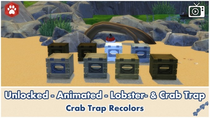 Animated Unlocked Lobster & Crab Trap by Bakie at Mod The Sims image 10712 670x377 Sims 4 Updates