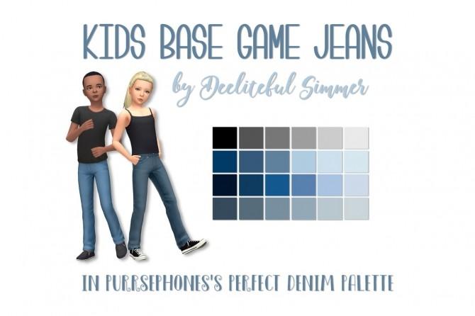 Kids base game jeans at Deeliteful Simmer image 10718 670x446 Sims 4 Updates