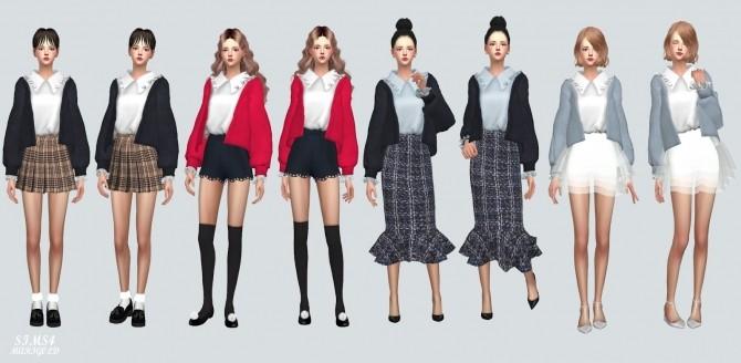 Frill Shirt With Cardigan at Marigold image 1075 670x328 Sims 4 Updates