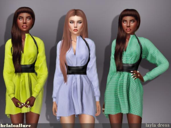 Sims 4 Belaloallure laya dress by belal1997 at TSR