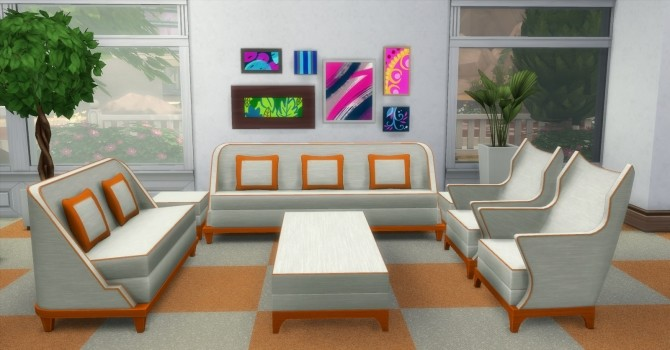 Sims 4 The Perma Living Set by AdonisPluto at Mod The Sims
