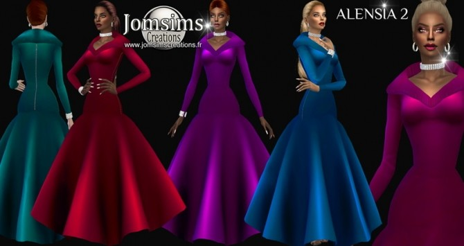 Alensia dress 2 at Jomsims Creations image 1084 670x355 Sims 4 Updates