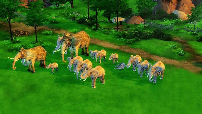 ELEPHANTS DECOR PACK at REDHEADSIMS » Sims 4 Updates