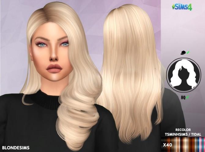Sims 4 TSMINHSIMS/TIDAL HAIR RECOLOR at REDHEADSIMS