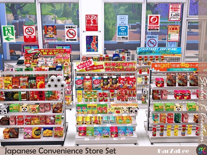 Japanese Convenience Store Set at Studio K Creation image 11118 670x502 Sims 4 Updates