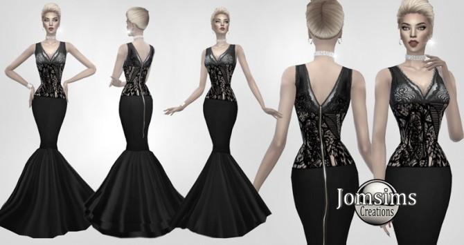 Sims 4 Mathilda dress at Jomsims Creations