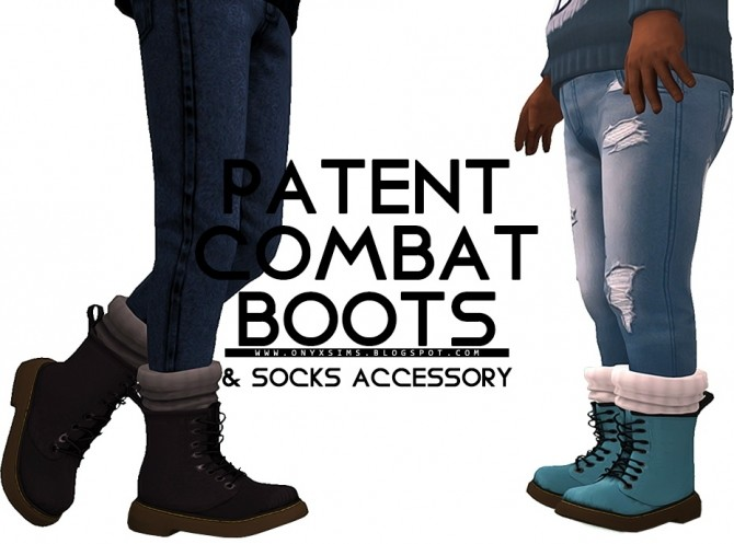 Patent Combat Boot at Onyx Sims image 11311 670x497 Sims 4 Updates