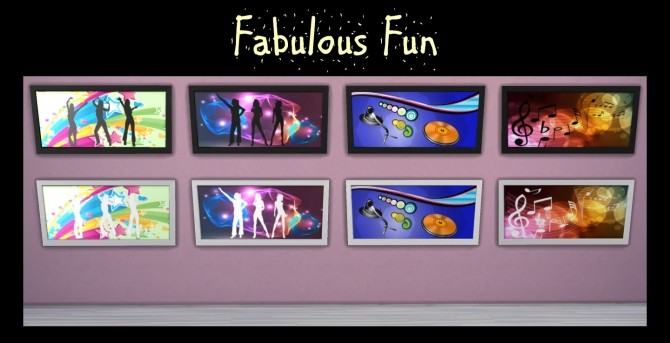 Sims 4 The Fun Fun Fun Collection of 44 Paintings by Simmiller at Mod The Sims
