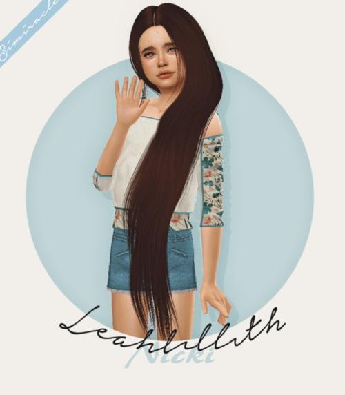 Sims 4 Leahlillith Nicki Hair Kids Version at Simiracle