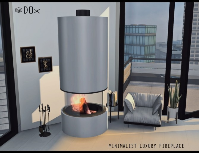 Luxury Fireplace Trio (P) at DOX image 1164 670x515 Sims 4 Updates