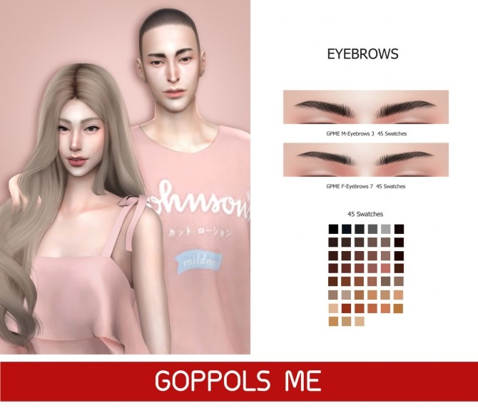 Eyebrows at GOPPOLS Me image 1166 670x572 Sims 4 Updates