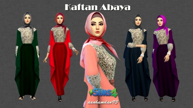 Hijab Model043 & Kaftan Abaya at Aan Hamdan Simmer93 image 1181 670x377 Sims 4 Updates