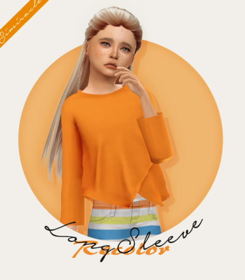 Sims 4 Long Sleeve Kids Recolor at Simiracle