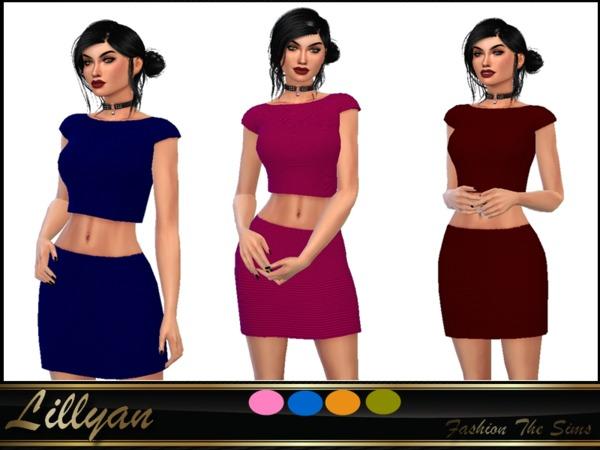 Sims 4 Set top and skirt by LYLLYAN at TSR