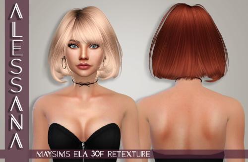 Sims 4 MaySims ELA 30F Hair Retexture at Alessana Sims