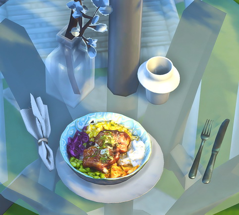 Sims 4 Spicy Korean Chicken Dish & Teensy Tiny  Food Clutter at Josie Simblr