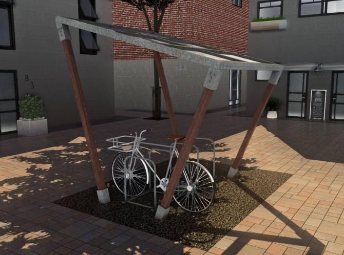 Sims 4 Bike Shelters & Bike (P) at DOX