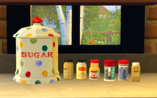 Sims 4 Sugar Jar and Spice Set at Josie Simblr