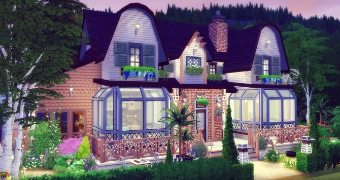 Amanda house by Angerouge at Studio Sims Creation image 1215 670x355 Sims 4 Updates