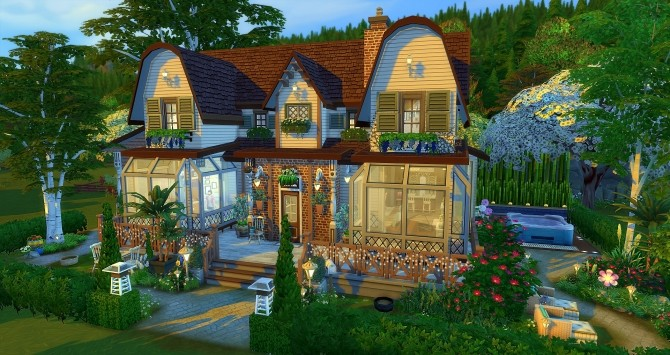 Amanda house by Angerouge at Studio Sims Creation image 1223 670x355 Sims 4 Updates