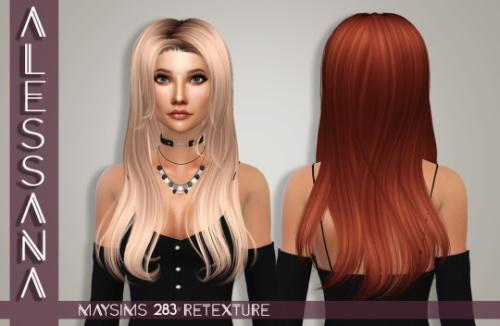 Sims 4 MaySims 283F Hair Retexture at Alessana Sims