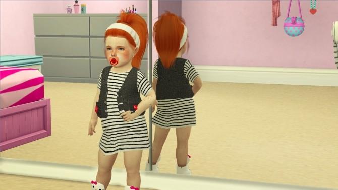 Sims 4 LEAH LILLITH TORI HAIR TODDLER AND KIDS VERSION at REDHEADSIMS
