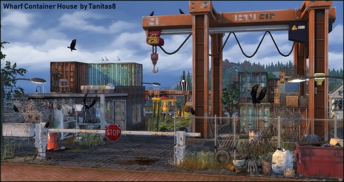 Whiskerman Wharf Container House starter home at Tanitas8 Sims image 12614 670x356 Sims 4 Updates