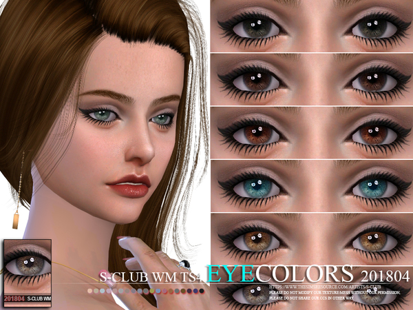 Eyecolors 201804 by S Club WM at TSR image 1265 Sims 4 Updates