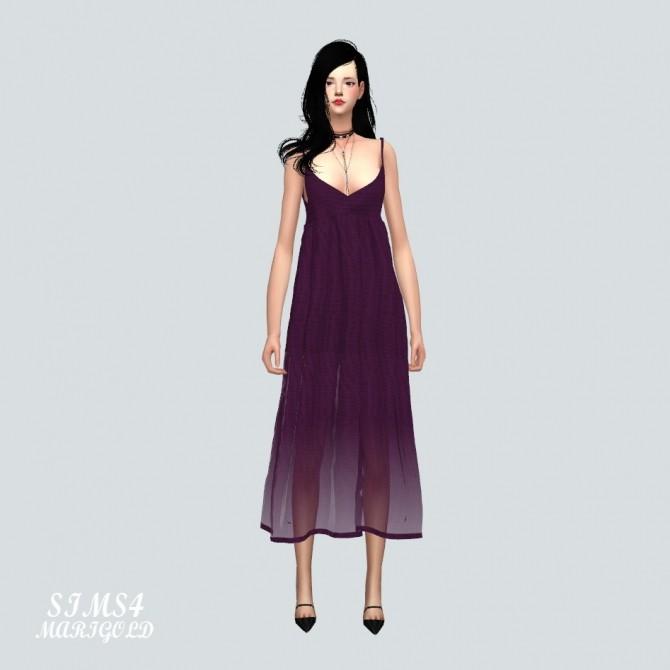 Sims 4 Long Bustier D dress at Marigold