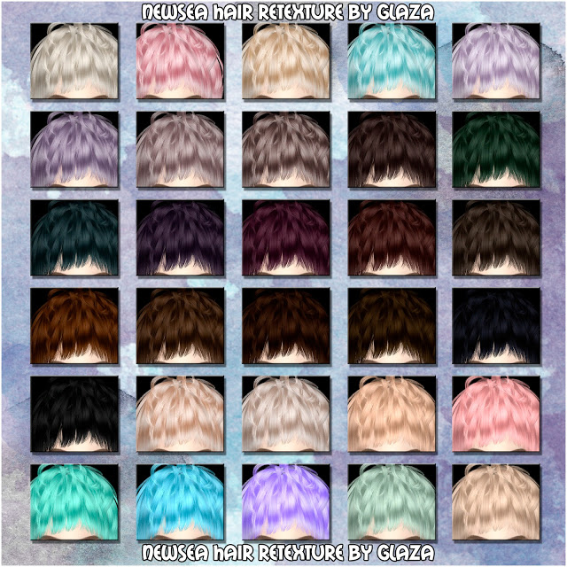 Sims 4 NewSea hair retexture at All by Glaza